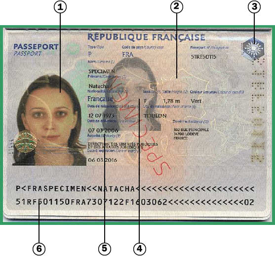 formalite obtention passeport biometrique francais